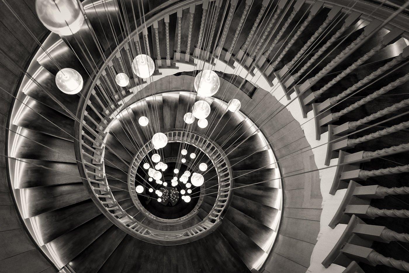 Heal's staircase B&W.jpg