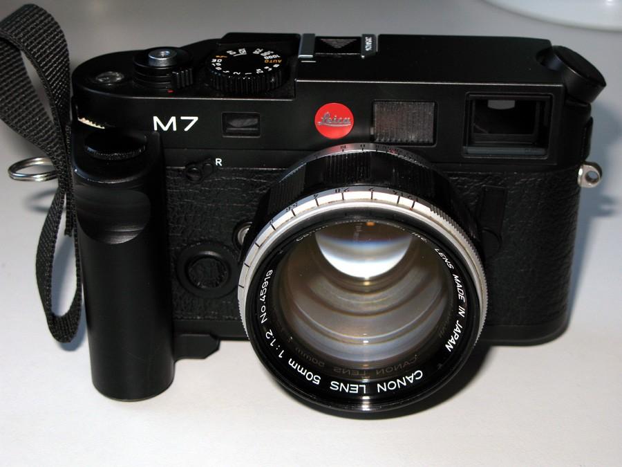 Then Leica M7 0.85 Canon 50 1.2 Rapidgrip Sling.jpg