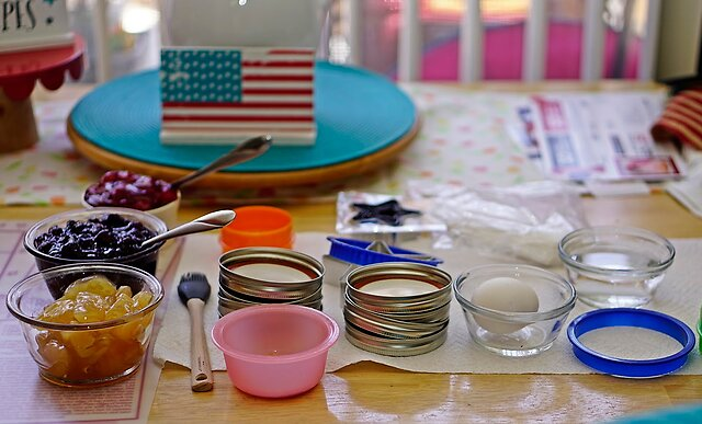 July 4th Baking - Wife made some mini pies and pie pops.  Lots of fun.  A6000, 50mm SEL and Flash in Bounce mode.