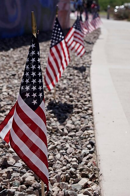 Memorial Day Displays - Flags displayed in Honor of those who died in the service of the USA.  Always a touching day as I personally know a few who have given their lives  A6000 and 28-70mm