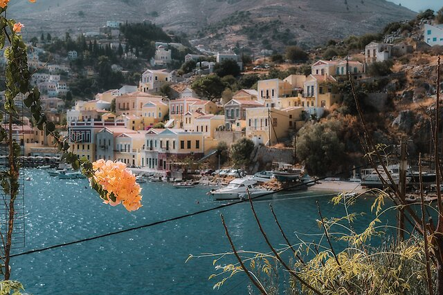 Amazing Colours of Symi, Greece - These are just grab shots as we walked about.  The colours are amazing here.