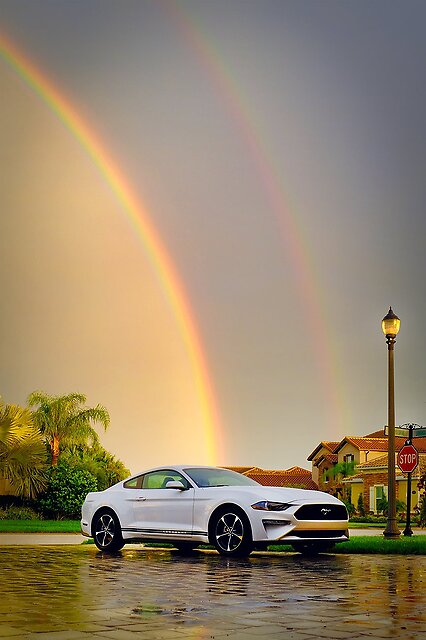 X100/X100S/X100T & X100F Photo Thread - Please add yours! - My son's Mustang tonight after a storm...