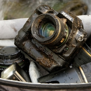 Pentax K7 with Mud