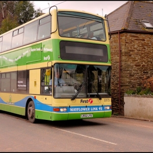The 93 bus to Dartmouth going through my village