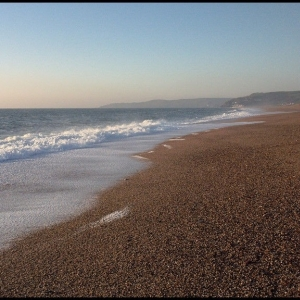 Looking south along Slapton Sands