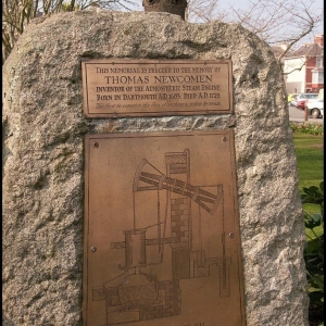 A beautiful copper plate memorial to a son of Dartmouth, the blacksmith Tho