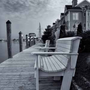 Cloudy Morning on the Dock - Mystic, CT