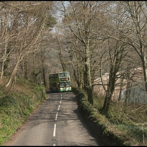 A379 Kingsbridge to Dartmouth road above Blackpool Sands