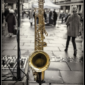 The saxaphone