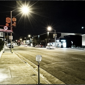 1/4- Melrose at Night