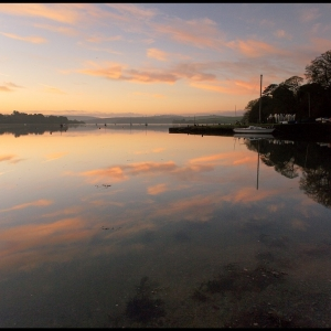SIJ - Day 11  Tranquil dawn at Newbridge Quay, Kingsbridge Estuary