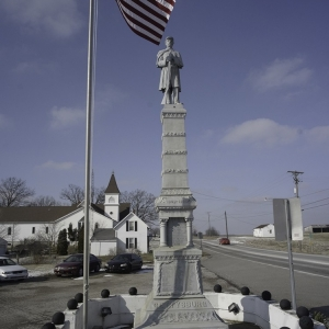 Civil War monument in Ohio.