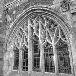 SIJ - Day 18:  Cloisters, Sterling Memorial Library - From Courtyard