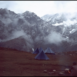 Overnight Camp below Rohtang Pass