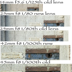 Lens comparison images
