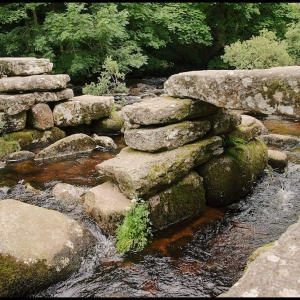 Clapper bridge at Dartmeet