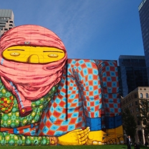 Os Gemeos Mural - Boston MA