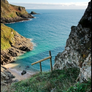 Above Elender Cove, south Devon, UK