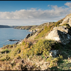 Looking NW from Gammon Head, south Devon, UK