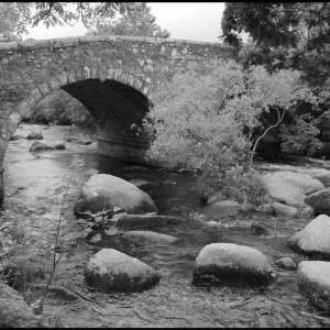 "The ""new"" bridge at Dartmeet"