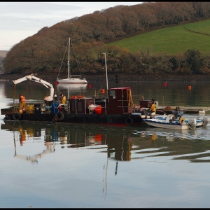 Laying new moorings