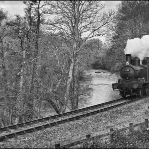 Collett Class 1400 tank approaches Caddaford