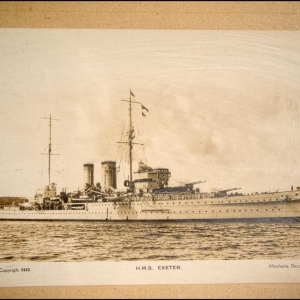 HMS Exeter in the 1930's