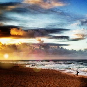Sandys beach, Oahu, Hawaii. Dawn patrol...