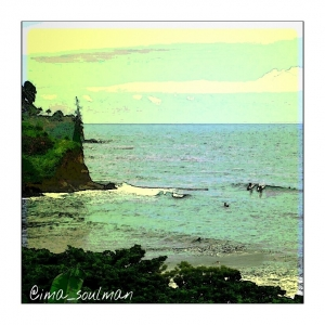 Hilo, Hawaii in watercolor art
