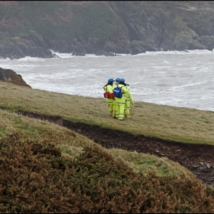Coastguard search and rescue team