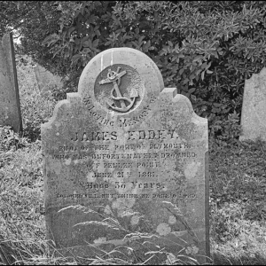The grave of James Eddey