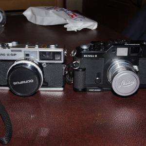 Olympus 35 sp and Bessa R