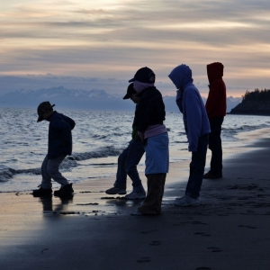 from the kenai beach, in Alaska