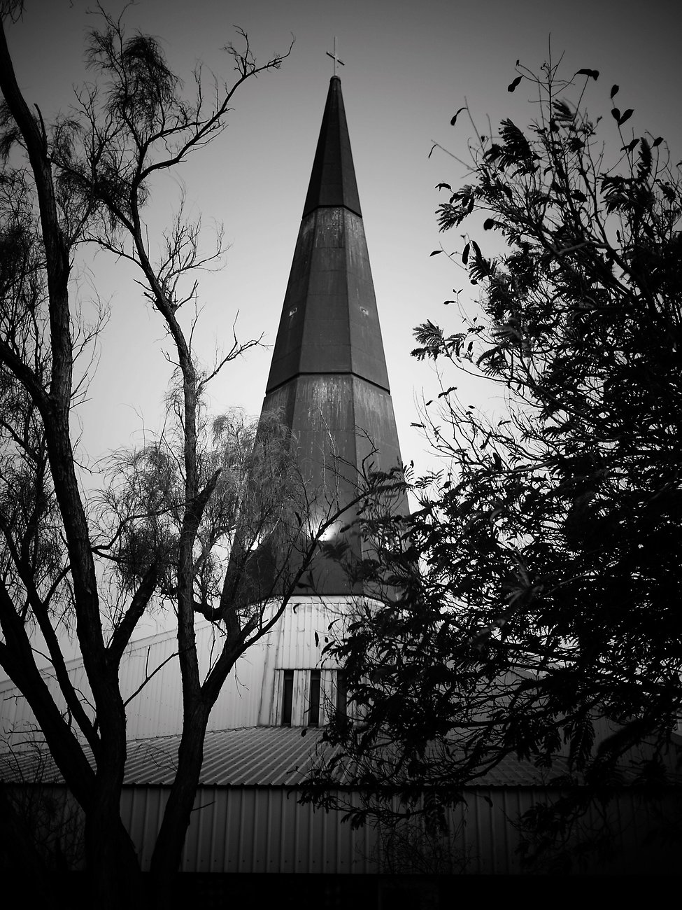 Day 29: Church of the tin-clad rocket ship.
