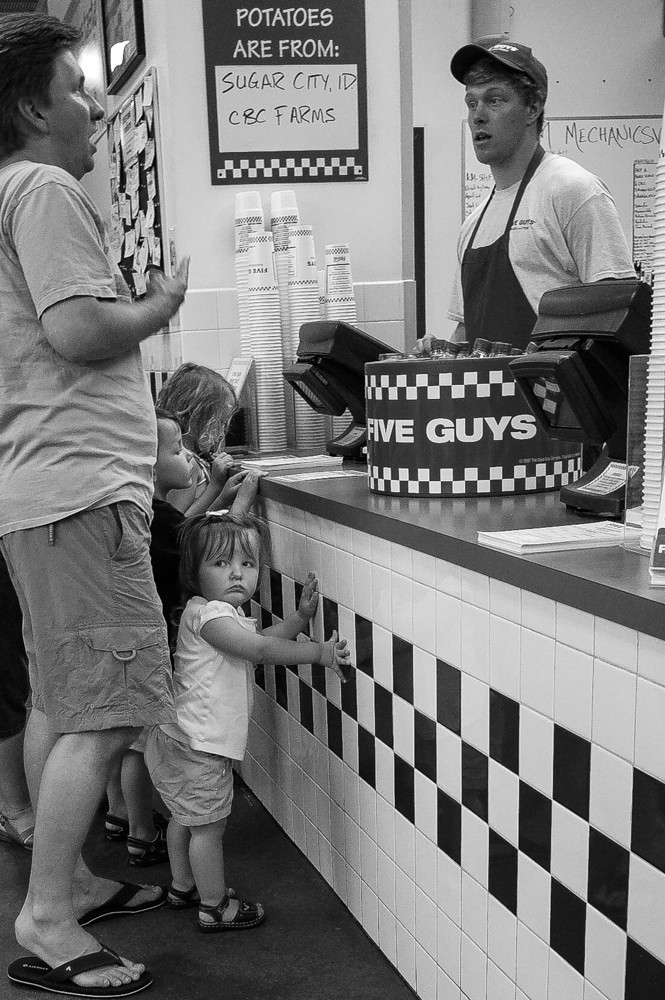 Five Guys burgers (and a little girl)