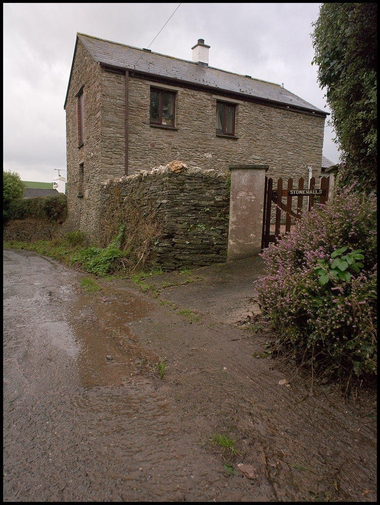My cottage on a wet day, rear elevation