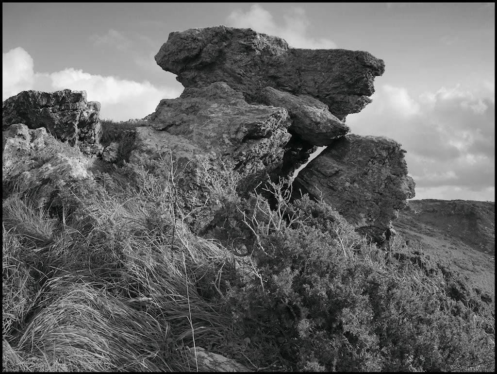 Windswept rock
